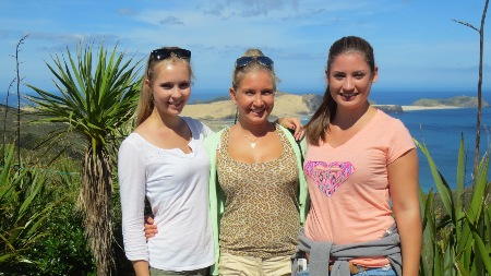 Julia, Ellen und Vivienne arbeiten als Au-Pair in Auckland